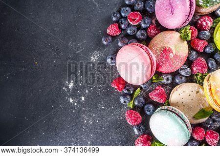 Colorful French Macaron Dessert