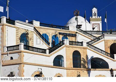 Algeria City / Algeria - 01 Nov 2014: The Seafront, Boulevard Ernesto Che Guevara In Algeria City, A
