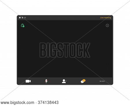 Conference Video Call. Online Meeting. Remote Webinar Window. Connection Screen Template. Group Talk