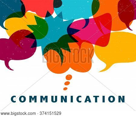Colored Speech Bubble. Communication Text.social Network. Colored Cloud.to Speak - Discussion.symbol