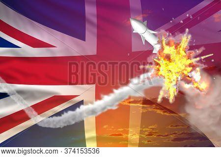 United Kingdom (uk) Intercepted Nuclear Warhead, Modern Antirocket Destroys Enemy Missile Concept, M