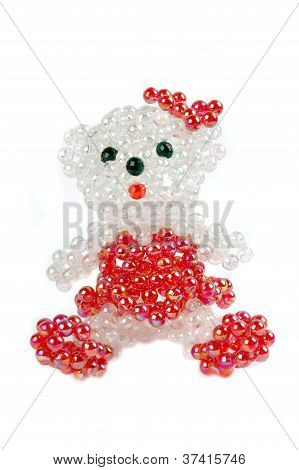 A Craft Beaded Crystal Of Bear