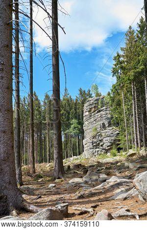 Feuersteinklippe Near Schierke In The Harz National Park In Germany