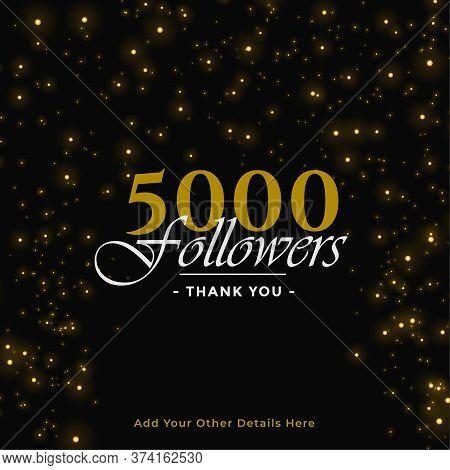 5000 Followers Thank You Banner Vector Design Illustration