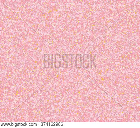 Pink Gold Glitter Texture. Golden Abstract Particles. Rose Sparkle Glitter Background. Vector Illust