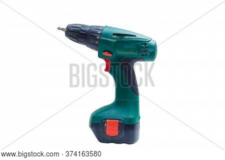 Electric Screwdriver, Screwdriver On A White Background