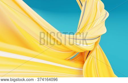 Modern Colorful Flow Background For Your Design Project. 3d Illustration. 3d Rendering. Abstract Flo