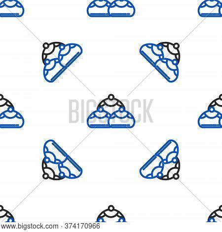 Line Jewish Sweet Bakery Icon Isolated Seamless Pattern On White Background. Hanukkah Sufganiyot. Je