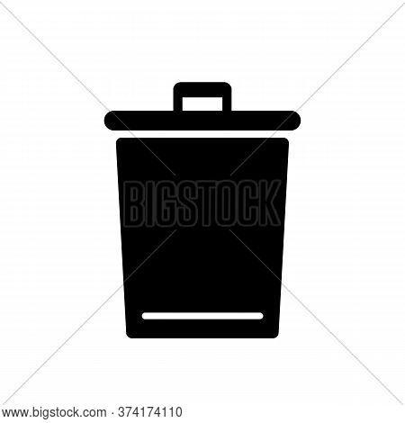 Garbage Bin Icon. Bag For Waste, Rubbish Sign. Recycling Trash. Vector