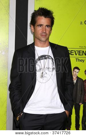 """LOS ANGELES - OCT 30:  Colin Farrell arrives at the """"Seven Psychopaths"""" Premiere at Bruin Theater on October 30, 2012 in Westwood, CA"""