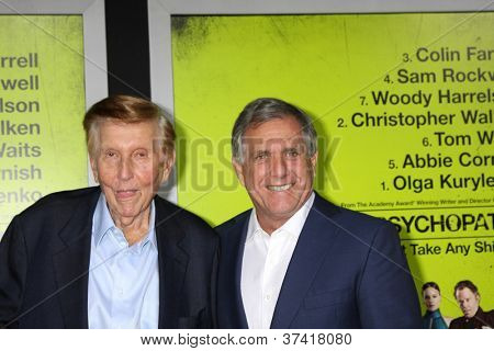 """LOS ANGELES - OCT 30:  Sumner Redstone, Les Moonves  at the """"Seven Psychopaths"""" Premiere at Bruin Theater on October 30, 2012 in Westwood, CA"""
