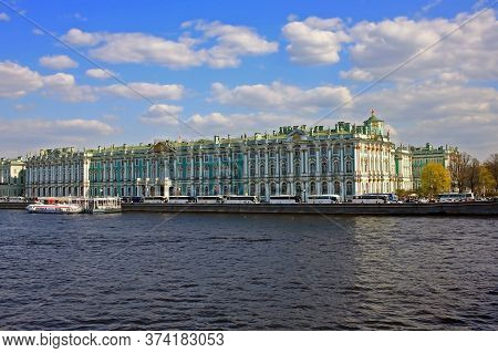 Saint Petersburg, Russia - 1 May 2019: Winter Palace, State Hermitage Museum. From 1732 To 1917, The