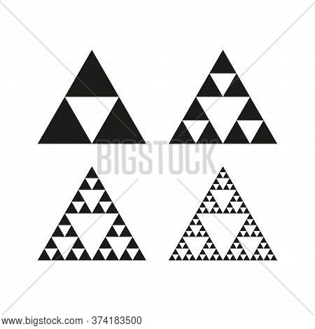 Geometric Triangle Symbol. Sierpinski Triangle. Infinite Fractal Shape