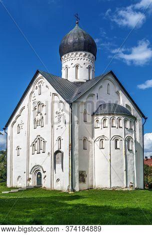Church Of The Transfiguration Of Our Savior On Ilyina Street Was Build In 1374 In Veliky Novgorod, R