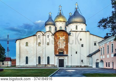 Cathedral Of St. Sophia The Wisdom Of God Is One Of Russia's Oldest Stone Buildings Was Build In 105