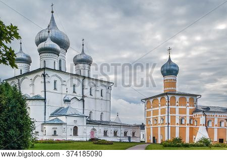 St. Varlaam Convent Of The Transfiguration Of Our Savior In The Village Of Khutyn Near Veliky Novgor