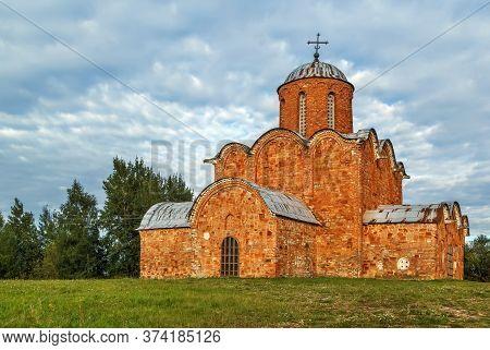 Church Of The Transfiguration Of Our Savior On Kovalevo Field Was Built In 1345, Veliky Novgorod, Ru