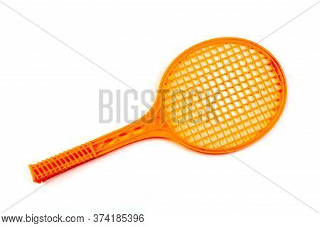 Tennis Rackets , Isolated On White. Top View With Copy Space.