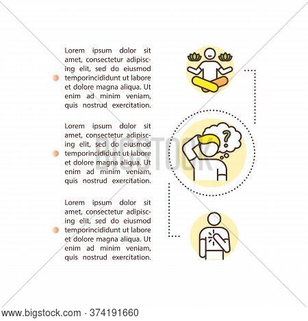 Self Understanding Concept Icon With Text. Meditation And Yoga. Inner Knowledge. Personal Improvemen