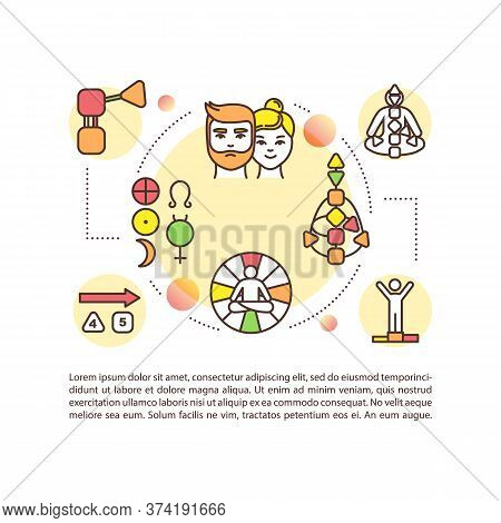 Body Chart Concept Icon With Text. Mandal For Self Understanding. Spirituality And Human Design. Ppt