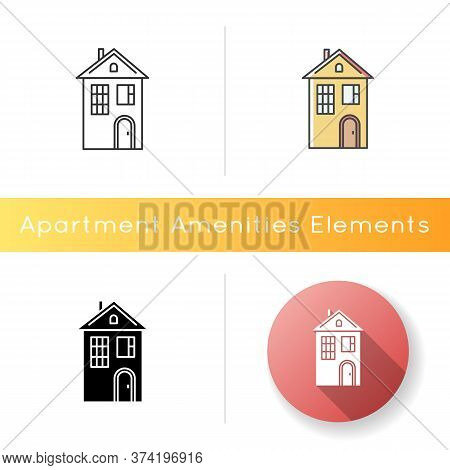 Home Icon. Suburban House. Modern Family Home For Sale. Downtown Dwelling. Cottage Rental. Investmen