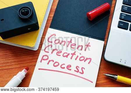 Content Creation Process Sign As Part Of Content Management.