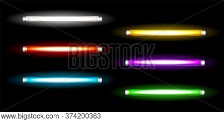 Neon Tube Lamps, Long Luminescence Fluorescent Multicolored Bulbs, Light For Night Club, Advertising