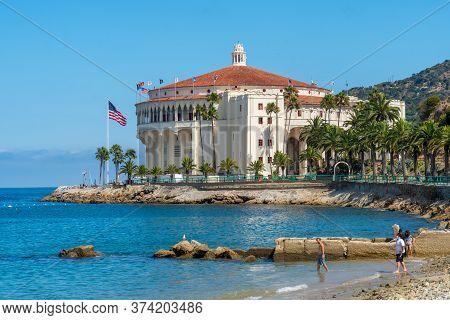 Catalina Casino, Famous Tourist Attraction In Santa Catalina Island, Southern California. June 20th