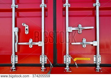 Industrial Intermodal Shipping Container Door Lock Mechanism For Security During Shipping