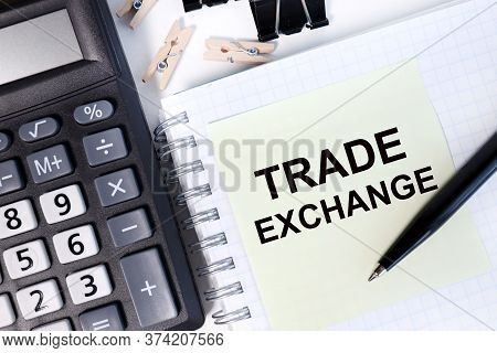 Trade Exchange. Business And Financial Success Concept.stock Exchange Market, Investment, Finance An