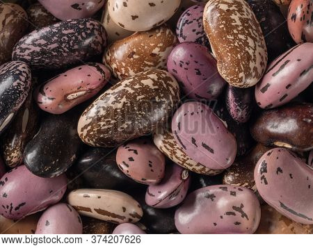 Organic Marble Beans Closeup. The View From The Top.