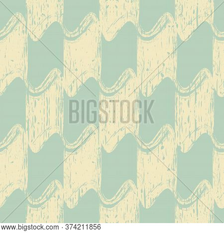 Trendy Background. Smears Of Beige Paint On A Blue Background. Seamless Texture In Fashionable Color