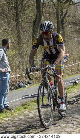 Wallers,france - April 12,2015: The South African Cyclist, Reinardt Janse Van Rensburg Of Mtn-qhubek