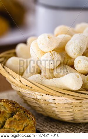 Brazilian Starch Biscuit, Traditional From Brazil, Called Polvilho Biscuit. Delicacy Made From Manio