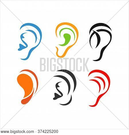 Ear Icon. Logo Element Illustration. Ear Symbol Design From  Colored Collection. Simple Ear Concept.