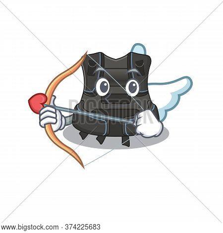 A Lovable Scuba Buoyancy Compensator As A Romantic Cupid Cartoon Picture With Arrow