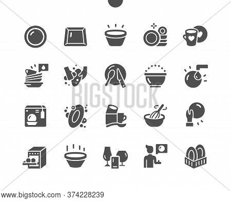 Tableware Well-crafted Pixel Perfect Vector Solid Icons 30 2x Grid For Web Graphics And Apps. Simple
