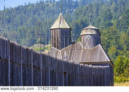 Wooden Palisade Of Fort Ross State Historic Park