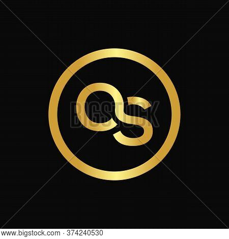 Initial Letter Os Logo Design Vector Template. Abstract Letter Minimal Typography Logo Design
