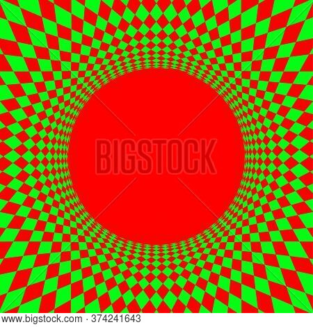 Geometric Art Abstract Red Green For Background, Art Green Red Spiral Optical For Hypnotic Wallpaper