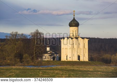 Church Of The Intercession On The Nerl. Vladimir Region, Russia