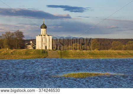Church Of The Intercession On The Nerl. Vladimir Region, Russia.