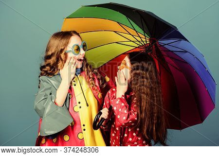 It Is Easier To Be Happy Together. Be Rainbow In Someones Cloud. Rainy Weather With Proper Garments.