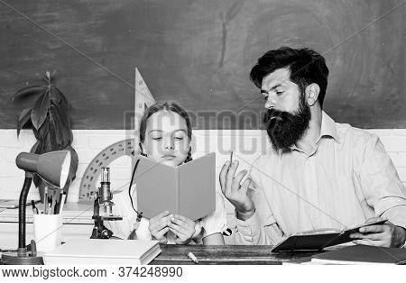 Man Bearded Teacher Excellent Pedagogue. Pedagogue Skills. Talented Pedagogue. Work Together To Acco