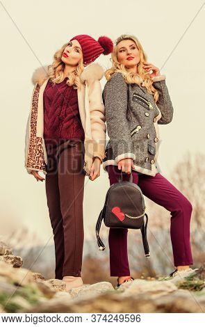 Stay Warm And Fashionable. Women Wear Furry Coats. Winter Clothes. Wardrobe For Cold Weather. Girls