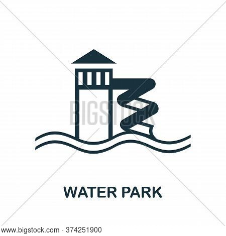 Water Park Icon. Simple Element From Amusement Park Collection. Creative Water Park Icon For Web Des