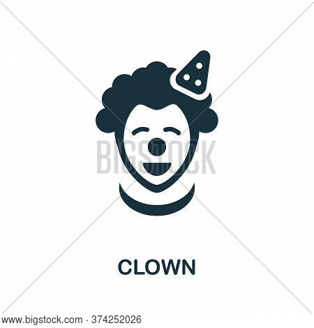 Clown Icon. Simple Element From Amusement Park Collection. Creative Clown Icon For Web Design, Templ