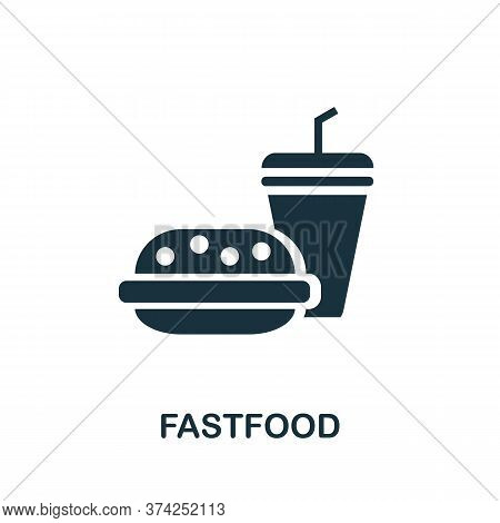 Fastfood Icon. Simple Element From Amusement Park Collection. Creative Fastfood Icon For Web Design,