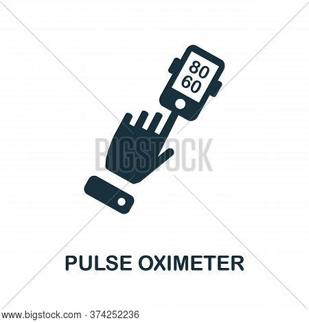 Pulse Oximeter Icon. Simple Element From Digital Health Collection. Creative Pulse Oximeter Icon For