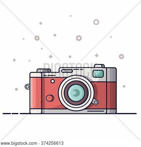 Digital Photography Icon, Logo. Photocamera Isolated On White Background.